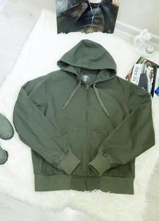 H&m  котоновая куртка цвет хаки3 фото