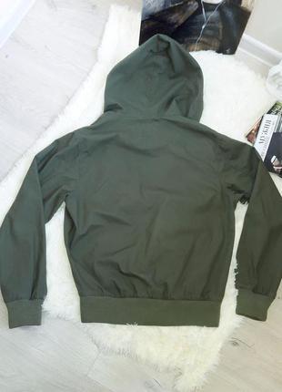 H&m  котоновая куртка цвет хаки5 фото