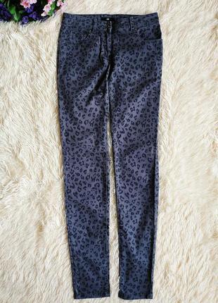 ♠️ подростковые зауженные джинсы скинни h&m, в леопардовый принт ♠️