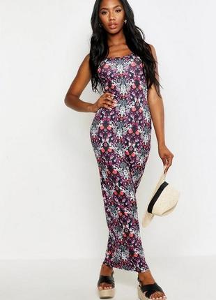 Boohoо, платье макси с принтом пейсли. uk 10/на наш 42 новое.