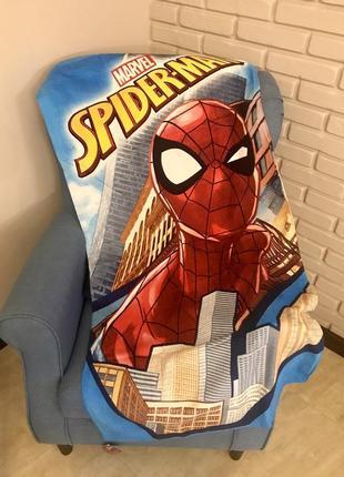Детское пляжное полотенце спайдермен человек-паук для мальчика 70х140 см