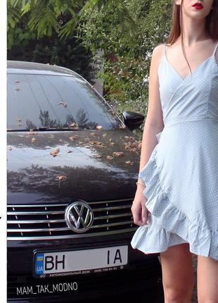 Очень легкое и нежное платье в горошек