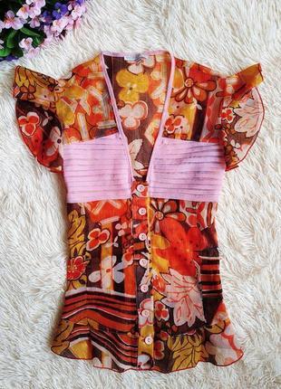 ♠️ шифоновая блуза с баской cinema donna ♠️