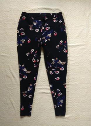 Стильные зауженные штаны брюки в принт next, 12 размер.