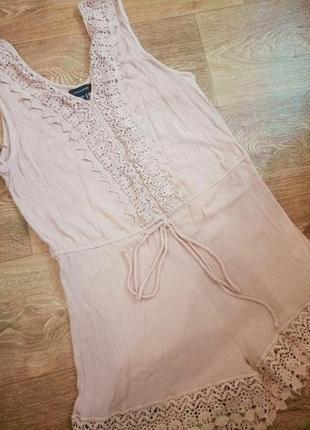 Оригинальный ромпер,комбенизон,шорты пудрового цвета с кружевом