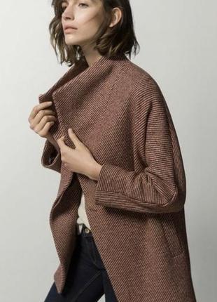 Стильное 😎♥️ шерстяное пальто полупальто из шерсти massimo dutti.