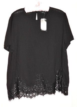 Новая блуза на пышные формы с кружевом,вещи в наличии💚+скидки, заходите💚