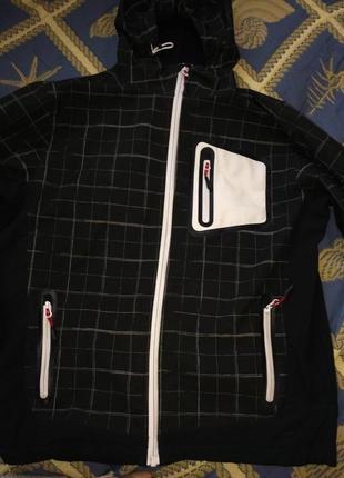 Куртка ветровка софтшелл на крупного мальчика