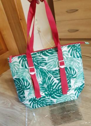 Термо сумка. пляжная термо сумка. сумка холодильник