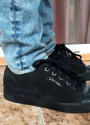 🔴 calvin klein 41  🔴  кроссовки из натуральной замши от бренда
