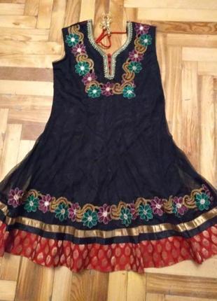 Шикарное платье с вышивкой, индийский наряд