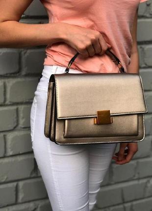 Каркасная сумочка из эко-кожи с короткой ручкой сумка на ремешке