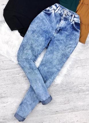 Актуальные mom джинсы от topshop, светлые джинсы варенки
