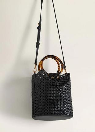 Плетенная сумочка манго