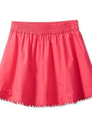 Яркая коралловая юбка из нат хлопка tcm tchibo германия. рост 158-164 с карманами