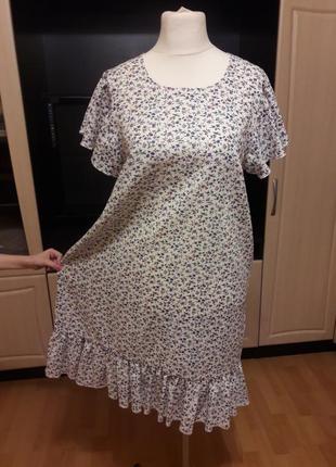 Льняное платье с воланами платье из льна4 фото