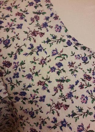 Льняное платье с воланами платье из льна6 фото