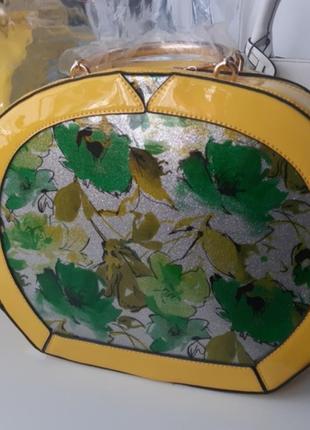 Желтая сумка сток из италии