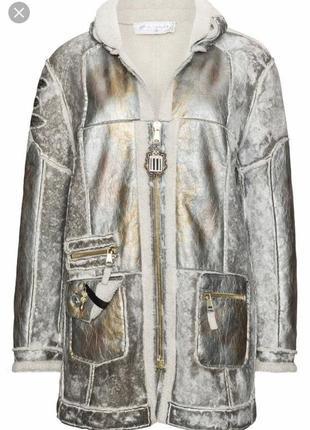 Экодубленка демисенная стильный модный дорогой бренд elisa cavaletti размер 38 или м1 фото