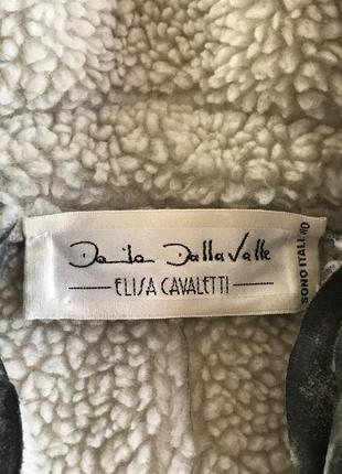 Экодубленка демисенная стильный модный дорогой бренд elisa cavaletti размер 38 или м2 фото