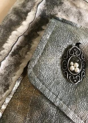 Экодубленка демисенная стильный модный дорогой бренд elisa cavaletti размер 38 или м5 фото