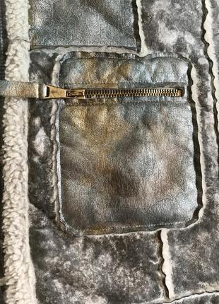 Экодубленка демисенная стильный модный дорогой бренд elisa cavaletti размер 38 или м7 фото
