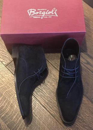 Ботинки замшевые fratelli borgioli, оригинал, италия