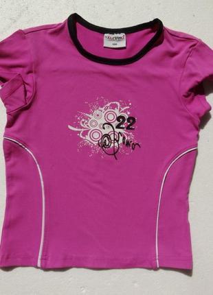 Pocopiano. детская спортивная футболка.  фуксия.
