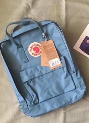 Рюкзак fjallraven kanken канкен портфель сумка classic 16 литров голубой