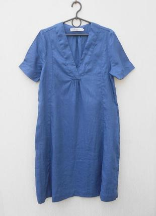 Летнее легкое льняное свободное платье