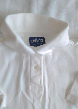 Женское белое поло harvest