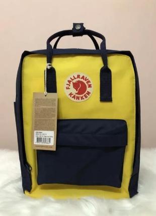 Рюкзак fjallraven kanken канкен портфель сумка classic 16 литров желтый синий