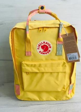 Рюкзак fjallraven kanken канкен портфель сумка classic 16 литров желтый лямки