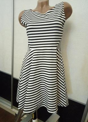 Летнее платье в полоску h&m