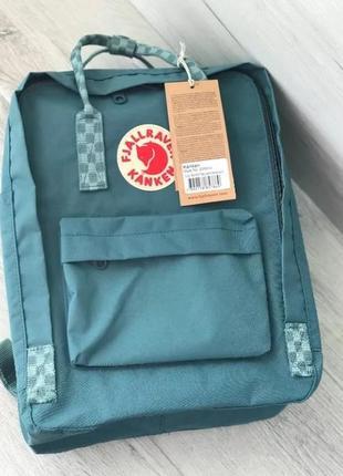 Рюкзак fjallraven kanken канкен портфель сумка classic 16 литров бирюзовый шашки