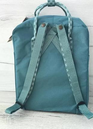 Рюкзак fjallraven kanken канкен портфель сумка classic 16 литров бирюзовый шашки2 фото