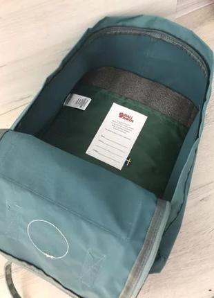 Рюкзак fjallraven kanken канкен портфель сумка classic 16 литров бирюзовый шашки4 фото