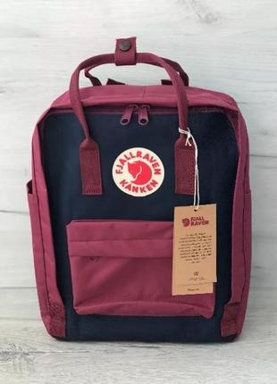 Рюкзак fjallraven kanken канкен портфель сумка classic 16 литров бордо синий