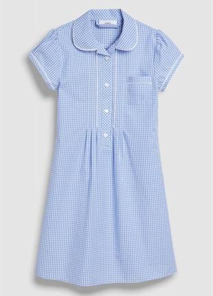 Платье в клеточку на  7-8 лет