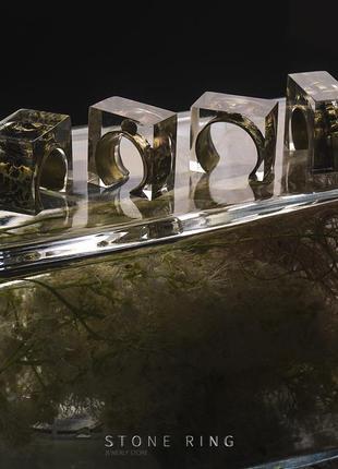 Кольцо из латуни  и ювелирной смолы