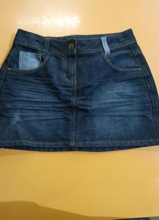 Суперская джинсовая мини юбка george