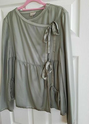 Блуза с запахом karen millen шелк