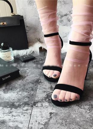 Носочки сетка/носки/фатин/нежно-розовый/стильно/тренд 2019