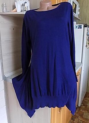 Платье туника кофта осень uk 18, наш размер 54