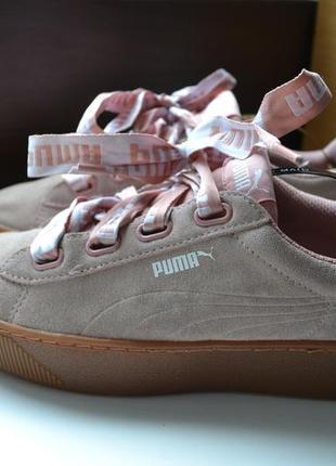 Puma 38.5р кроссовки кожаные. оригинал.