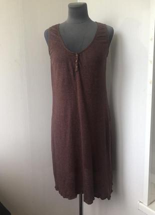 Комфортное льняное трикотажное  платье, натуральный трикотажный лён, patrizia pepe