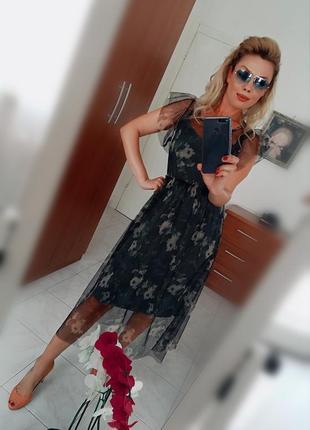 Платье-сетка тренд 2019 из италии2 фото