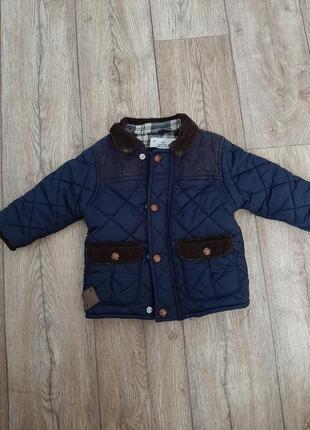 Куртка детская некст next стеганка 9-12м