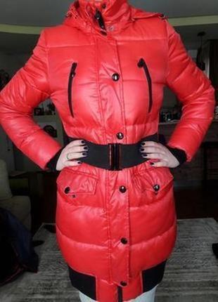 Ostin пуховик пальто р.44 м красный