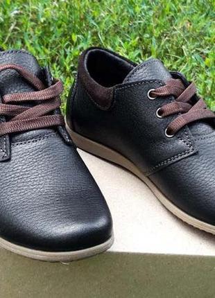 Кожаные подростковые туфли на шнурке 62 f